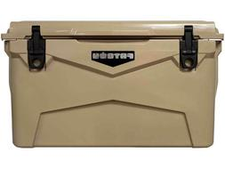 Fatboy Rugged Ice Chest Roto Molded Cooler Tan 45 QT Quart
