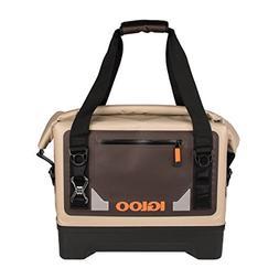 Igloo Sportsman Waterproof Duffel Soft Cooler, Tan/Black/Ora