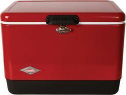 Coleman Steel Belted Portable 54 Quart Retro Classic Cooler