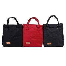 Stripe Lunch Bag Insulated Handbags Cooler Women's Fashion P