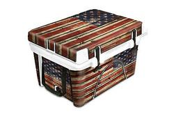 Thickest Wrap 24mil Skin Full for ORCA 26qt Cooler Old Glory