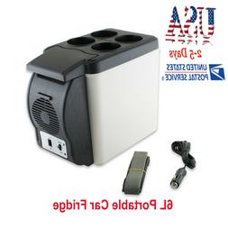 US 12V 6L Car Portable Mini Fridge Cooler Warmer Refrigerato