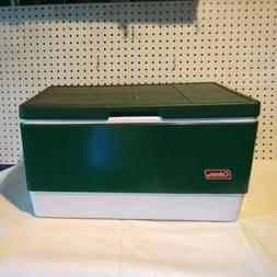 Vintage 1984 Metal Green Coleman Cooler Steel Belted With Tr
