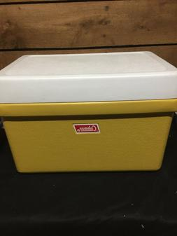 Vintage Coleman Cooler  Gold Yellow Mustard Retro 1970s NOS