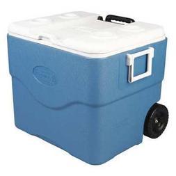 COLEMAN 3000001733 Wheeled Chest Cooler,75 qt,Blue,White