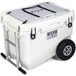 RovR Wheeled Rugged Heavy-Duty White Camping Rolling Cooler