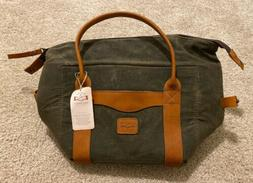 Mission Mercantile White Wing Waxed Canvas Cooler NWT Leathe