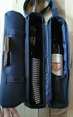 Picnic at Ascot Wine Cooler Carrier with Strap - 2 Glasses,