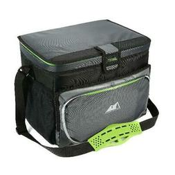 Zipperless Cooler 30 Can Black Gray green Polyester Patented
