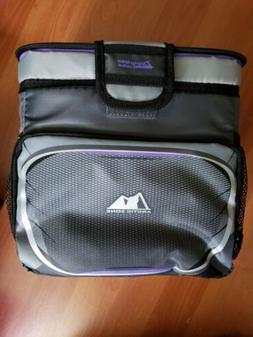 Arctic Zone Zipperless Cooler 9 Cans+Ice Purple and Gray Wom